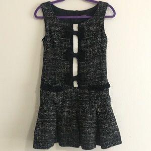 Nanette Lepore Black Bow Tweed Dorothy Mini Dress